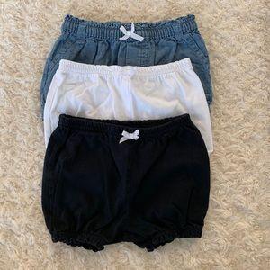 Bundle of 3 bubble style shorts